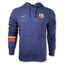 Áo khoác thể thao Barcelona hoody xanh navy 2013