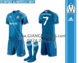 Đặt áo bóng đá không logo - Mẫu áo Marseille 2013 2014