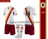 Đặt áo bóng đá không logo - Mẫu áo AS Roma 2013 2014