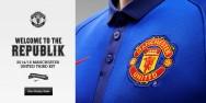 Áo bóng đá Manchester United sân khách xanh bích 2014 2015