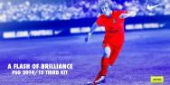 Áo bóng đá PSG sân khách đỏ dạ quang 2014 2015