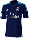 Áo đấu Real Madrid xanh đen new 2015 2016