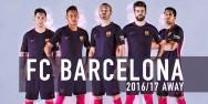 Áo bóng đá Barcelona tím 2016 2017 sân khách